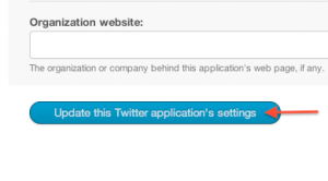 Twitter Developer Create a new application