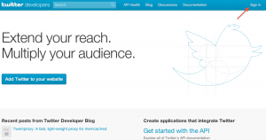 Twitter Developer Site Login